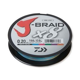 DAIWA J-Braid X8 0,24mm-1m multi color