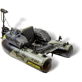 BLACK CAT Battle Belly Boat Set, inkl Motor